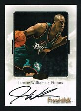 Jerome Williams 2000 Fleer Fresh Ink signed autograph auto Basketball Card