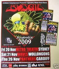 BUDGIE - Poster N.S.W. 2009 Australian Tour BONUS DL