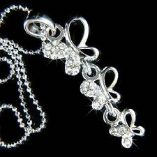 BUTTERFLY made with Swarovski Crystal Bridal Sister Friends Family Necklace Cute
