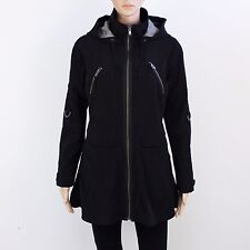 Next Womens Size 8 Black Zip Up Hooded Jacket