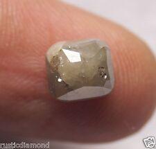 2.15 Ct Natural Loose Diamond Rose Cut Cushion Shape Gray Color 6.50MM JEWEL USE