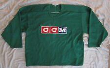 CCM Bright Green Long Sleeve ICE HOCKEY SWEATER Jersey Shirt Sz Men's XXL