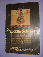 1927 Woman's World Magazine Cookery Calendar of Monthly Tested Recipes