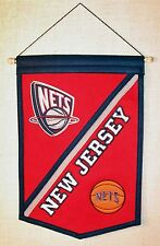 New Jersey Nets Wool Banner Pennant Brooklyn New York NBA Vintage