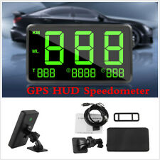 Black Universal Digital Car GPS HUD Design Speedometer Speed Display KM/h Or MPH