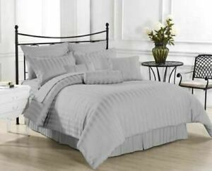 Attached Waterbed Sheets 1000 Count Silver Striped Egyptian Cotton Sheets