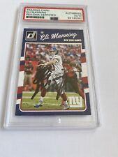 Eli Manning AUTOGRAPHED ON CARD 2016 Panini Donruss Football PSA/DNA