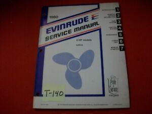 VINTAGE 1980 EVINRUDE OUTBOARD SERVICE MANUAL 2 HP MODEL E2RCS