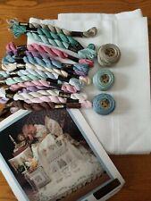 Shepherds Bush Wandering Vine & Soft White Anne Cloth Afghan & Perle Cotton Kit