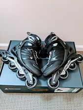 New Zetrablade Men's Adult Indoor Outdoor Rollerblades Skates Black Size 10