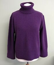Neues AngebotTotem Oliver Harding lila Rollup Hals Pullover Wolle Kaschmir Pullover 12/m