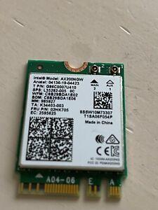 L35282-005 G86C0007 UIntel Wi-Fi 6 (802.11ax) AX200NGW 02HK705 M.2 2230 Card