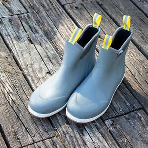Men's Frogg Togg's Grinder Deck Boot GRAY Slip Resistant Waterproof SZ 10 11 12