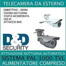 TELECAMERA IR CUT CCTV CCD LENTE SONY CMOS 3.6MM 1000TVL 976H A 36 LED DC12V