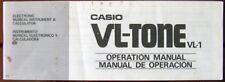 Casio VL-1 VL-TONE Mini Keyboard Original Owner's Operation Manual Booklet