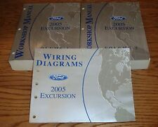 2005 Ford Excursion Shop Service Manual 1 & 2 + Wiring Diagram Set 05