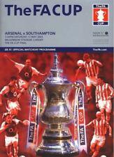 Away Teams S-Z Southampton Football FA Cup Fixture Programmes (2000s)