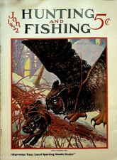 Vintage Hunting & Fishing Magazine January 1932 Great Cover Sporting
