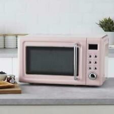 New Retro Style Pink Digital Microwave 20 Litre 800W Kitchen Oven Appliances