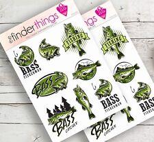 Bass Fishing Fish Stickers Scrapbook Planners Diary Fun Crafts Precut