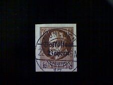 Stamp, Germany, Bavaria, Scott#168, used(o), imperforated, 75pf, red brown