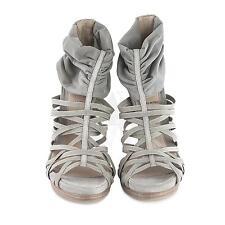 Fendi 8X3705 Gray Open Toe Mesh Cage Platform Sandal 7.5 37.5 NIB $960