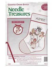 Vintage Needle Treasures  Cross Stitch Christmas Stocking Kit Aimee Ornament