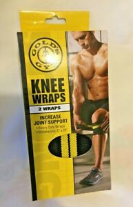 """Golds Gym Knee Wraps Joint Support- 2 Wraps (3""""' X 72"""") Joint Support New"""