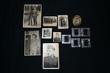 Alte Fotos von Soldaten 2 WK Soldatenfotos 8 Stück + 5 Dias