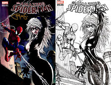 Amazing Spider-Man #15 Aspen Michael Turner Color/B&W Set Signed 9.4 NM Marvel