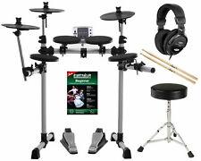 Elektronisches Schlagzeug E-Drum Modul Rack Pedale Kopfhörer Drumhocker Sticks