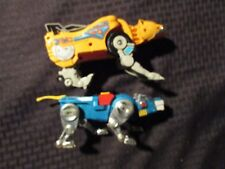 1980's VOLTRON Yelow & Blue Lions LOT of 2 FN/FN+ 10 & 8""