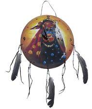Indianer Uhr Krieger Traumfänger Bilderuhr Wanduhr 04