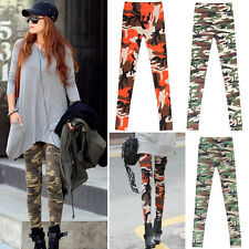 Camouflage Fashion Women Sexy Skinny Print Leggings Stretch Jeggings Pants UK