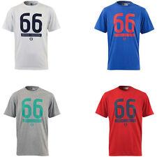 New Men's Sergio Tacchini College T-Shirt Blue White Grey Navy Retro Vintage Top