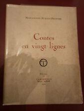 Marguerite Burnat-Provins Contes en vingt lignes Exemplaire N°I