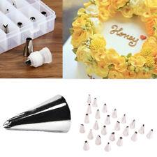 28tlg Spritztüllen Set Edelstahl Garniertülle zum Backen Torten Blumennagel