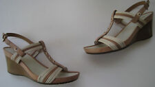 GEOX RESPIRA LEATHER STUDDED WEDGE SANDAL SIZE US 8M EUR 38 HOT