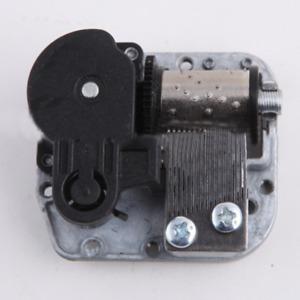 Silver18 Note Mechanical DIY Windup Music Box Sankyo Musical Movement+Screws+Key