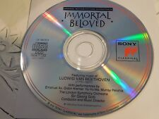 Immortal Beloved (CD, Dec-1994, Sony Classical)Disc Only 18-321