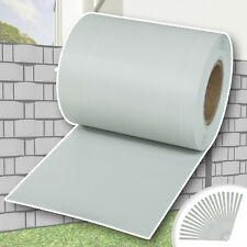 Rotolo recinzione 35m pvc pellicola giardino resistente vento grigio chiaro nuov