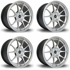 4 x Rota Titan Hyper Silver Alloy Wheels 17x7.5 Inch ET35 4x100 PCD 67.1mm CB