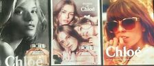 2014 Chloe Fashion Magazine Print Ads W/ Roses De Chloe Perfume Sample Lot of 3