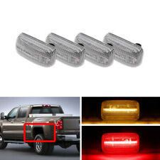 4x F&R Amber Red Led Side Marker Lights For Chevrolet Silverado GMC Sierra 3500