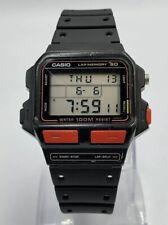 bc5175186f05 VINTAGE Casio SDB-500W Lap Memory 30 Module 863 JAPAN 1980s RUNNERS WATCH