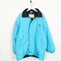 Vintage 90s ELLESSE Small Logo Soft Shell Coat Jacket Blue | Small S