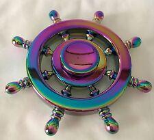 Fidget Finger Spinner Rainbow Table Spin Metal Stress Toys UK Designer Quality