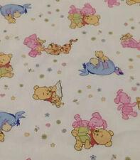 Disney Pooh Piglet Tigger Eeyore Baby Fat Quarter Fabric 22X18 Inches
