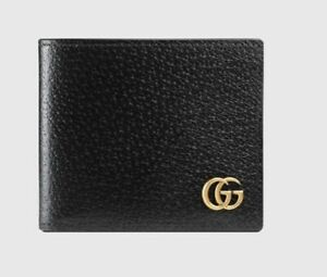 100% Auth Brand New Gucci Small Wallet Black Leather Unisex