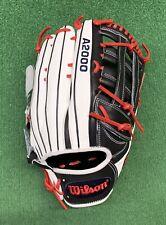 "Wilson A2000 13.5"" SuperSkin Outfield Baseball Softball Glove - WTA20RS20135SS"